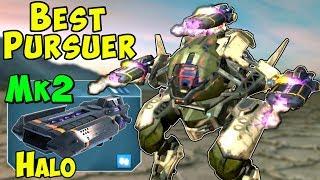 Mk2 Halo Pursuer Overpowered Stealth Brawler - War Robots Gameplay WR