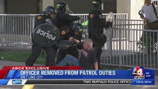 Salt Lake City officer who pushed down elderly man removed from patrol duties during investigation