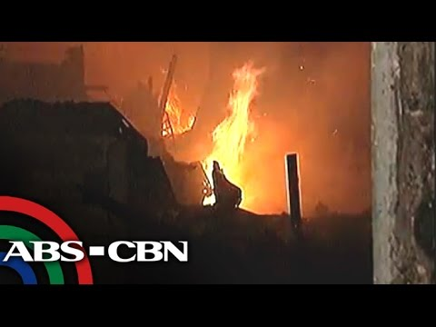 Fire hits houses in San Andres, Manila