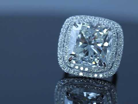 20 carat cushion diamond engagement ring by mike nekta