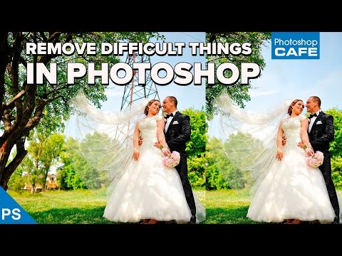How to REMOVE objects from a photo: DIFFICULT REMOVALS in PHOTOSHOP