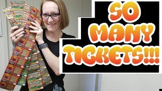 40 SCRATCH OFF LOTTERY TICKETS!!