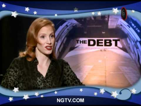 with Sam Worthington & Jessica Chastain on The Debt