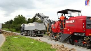 Wirtgen W 210 Cold milling machine / Kaltfräse, Fa. Kutter, L1127, Leutenbach, Germany, 18.08.2014.