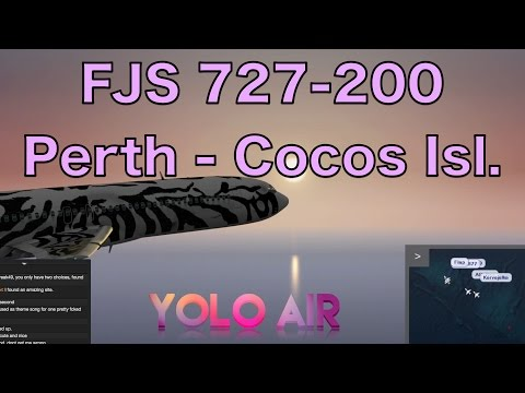 FSCloud w/YOLO-Air | Perth YPPH - Cocos Islands YPCC | FJS Boeing 727 CIVA | 15 Sep 2015