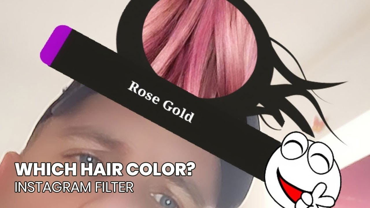 How To Get Which Hair Color Instagram Filter Youtube