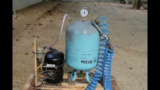 Air Compressor from Com Air With air tank