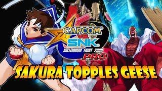 SAKURA TOPPLES GEESE - Sakura Legacy: Capcom Vs. SNK Pro (Dreamcast)