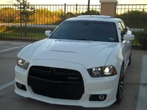 2012 Dodge Charger Srt8 White Red Leather Youtube
