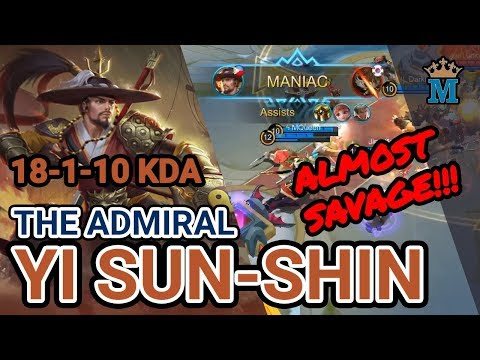 Almost Savage with Yi Sun-Shin | S11 Legend Rank | Mobile Legends | MQueen