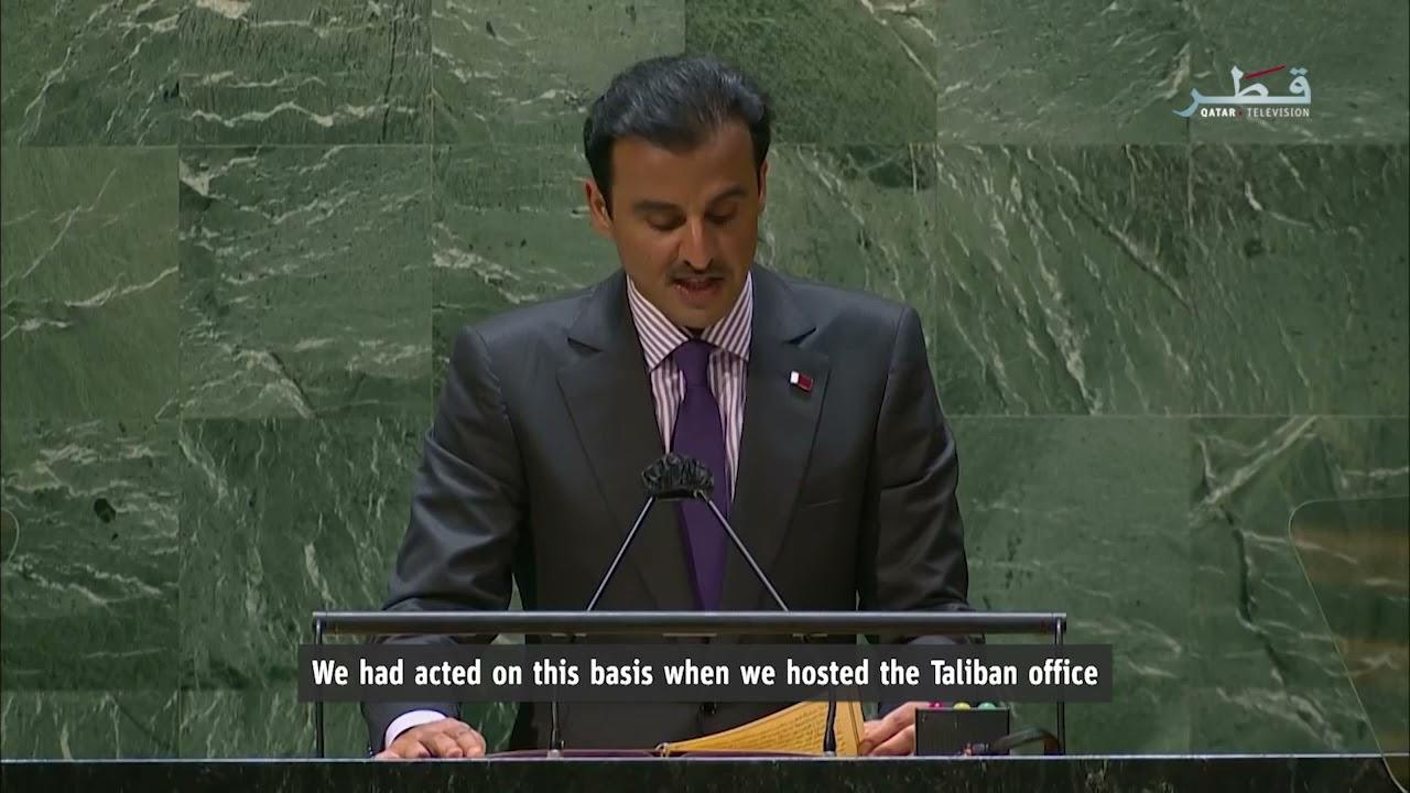 كلمة حضرة صاحب السمو خلال الجلسة الافتتاحية لاجتماعات الدورة الـ 76 للجمعية العامة للأمم المتحدة