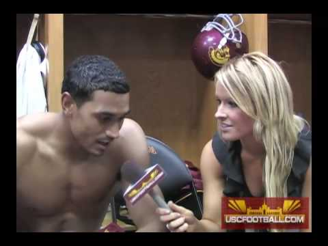 Alone! Female reporter locker room naked