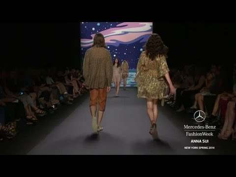 ANNA SUI: MERCEDES-BENZ FASHION WEEK SPRING 2014 COLLECTIONS