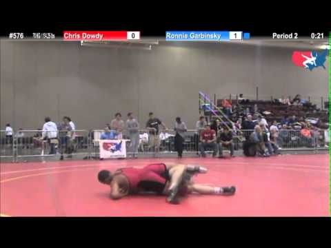 FILAJRFS: 70 KG / 154.25 lbs: Chris Dowdy (Finger Lakes) vs. Ronnie Garbinsky (Pittsburgh WC)