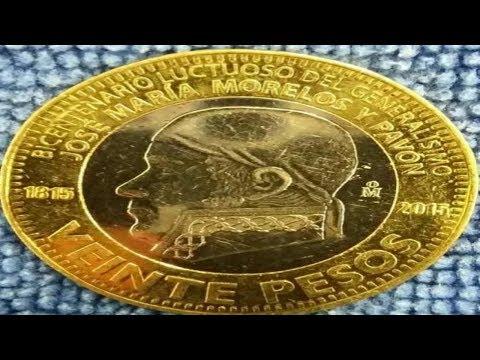 Precio de moneda mexicana de $20 Bicentenario Luctuoso de José María Morelos y Pavón