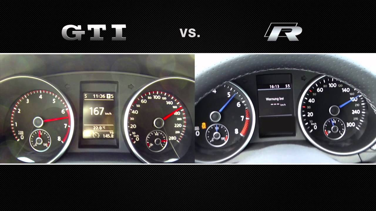 golf vi r 300hp vs gti edition 35 300hp 0 180 kmh dsg vs manual youtube. Black Bedroom Furniture Sets. Home Design Ideas