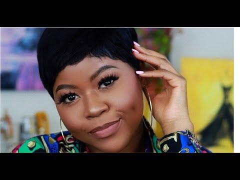 soft glam makeup for black women tutorial  beginner