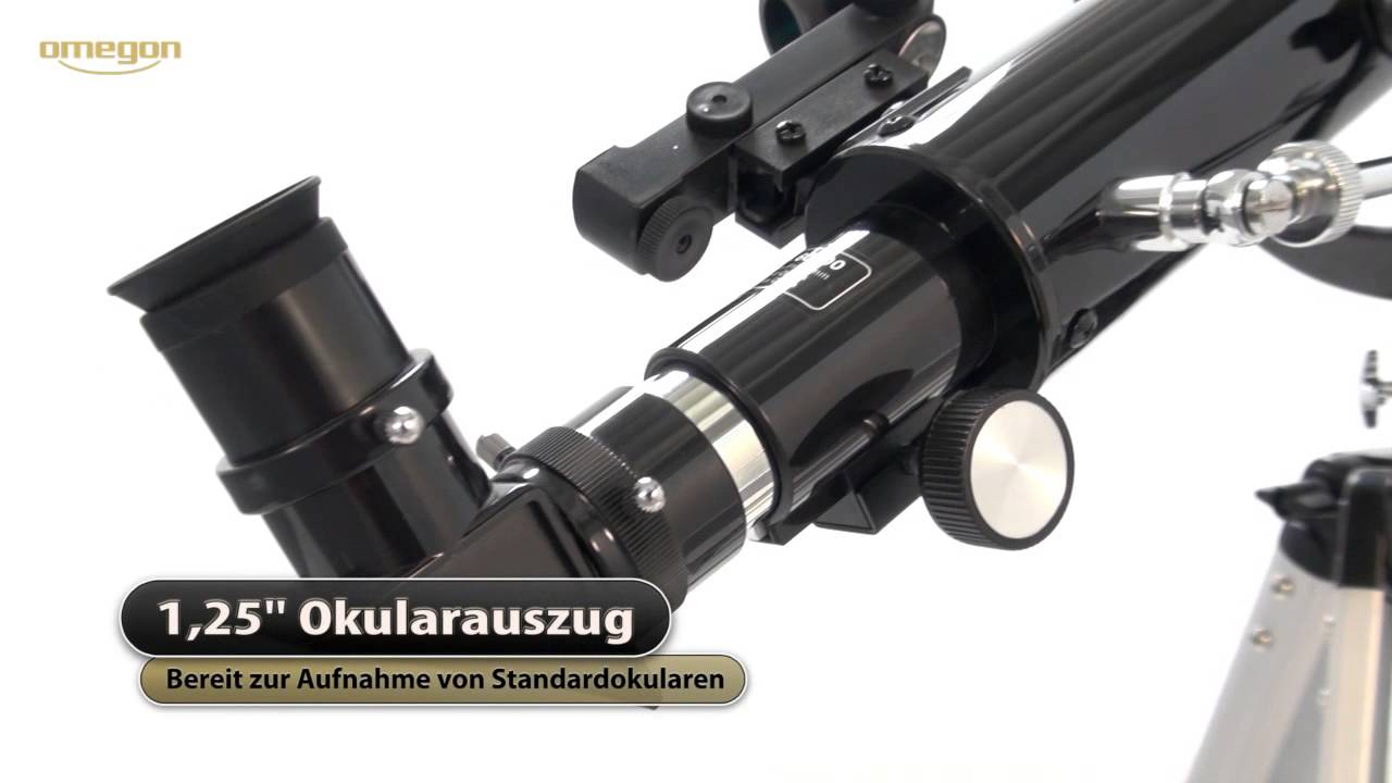 Omegon linsen teleskop ac az youtube
