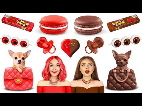 ชาเลนจ์อาหารช็อกโกแลตปะทะอาหารจริง | กินแต่ขนม 24 ชม! สงครามอาหาร มกบังแสนอร่อย โดย RATATA CHALLENGE