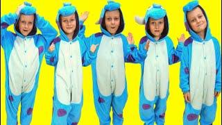 5 little monkeys by Tawaki kids\ Nursery rhymes & kids song