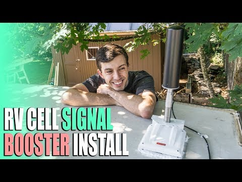 RV Cell Signal Booster Install - SolidRF RV Pro Cellular 4G LTE Amplifier