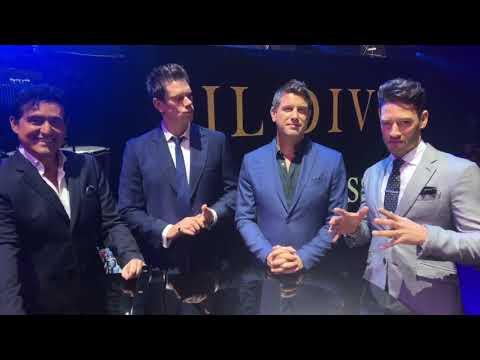 IL DIVO Speaking about Adelaide, Australia 18-10-2018