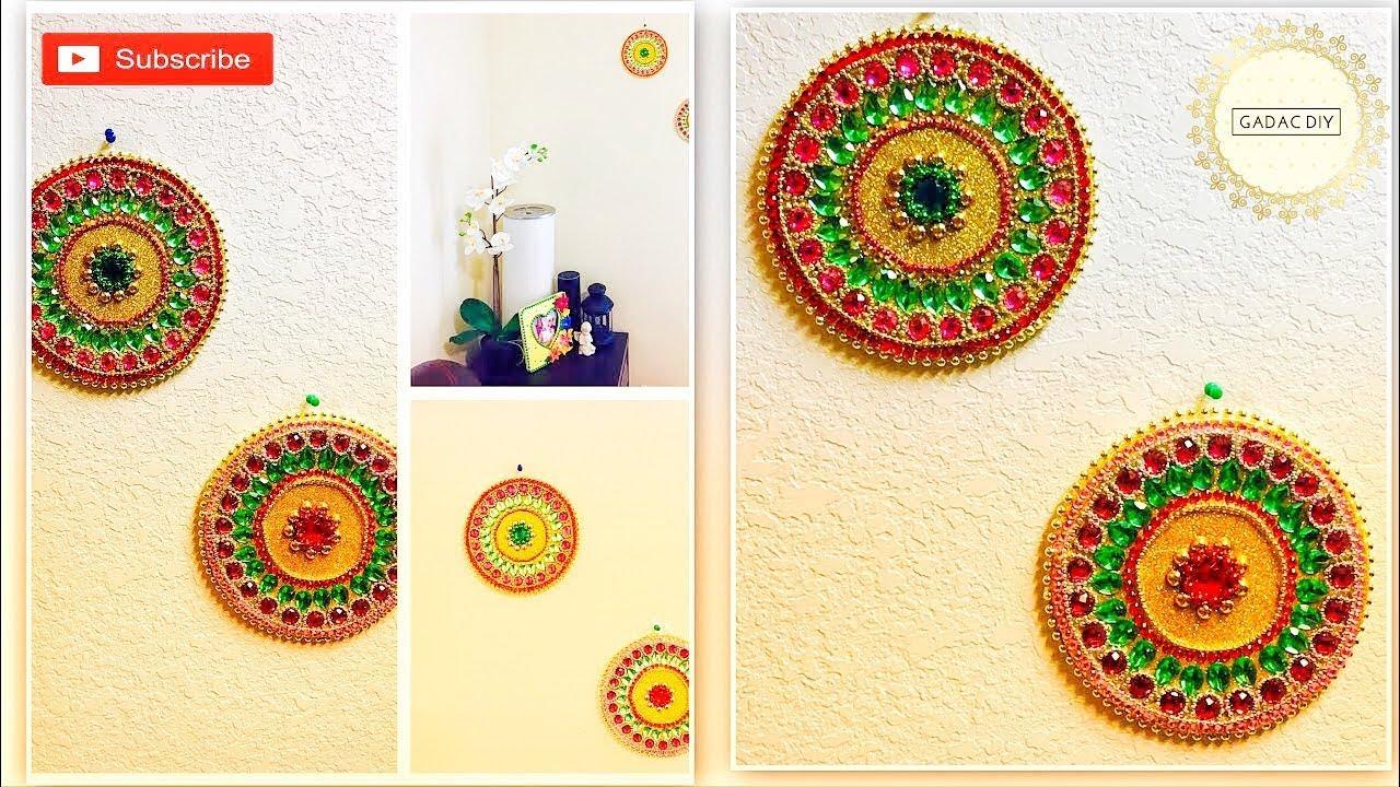 DIY Wall Hanging Crafts / Mandala Style / Kundan - Acrylic Stones ...