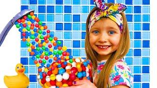 Милана и игра с волшебными конфетами