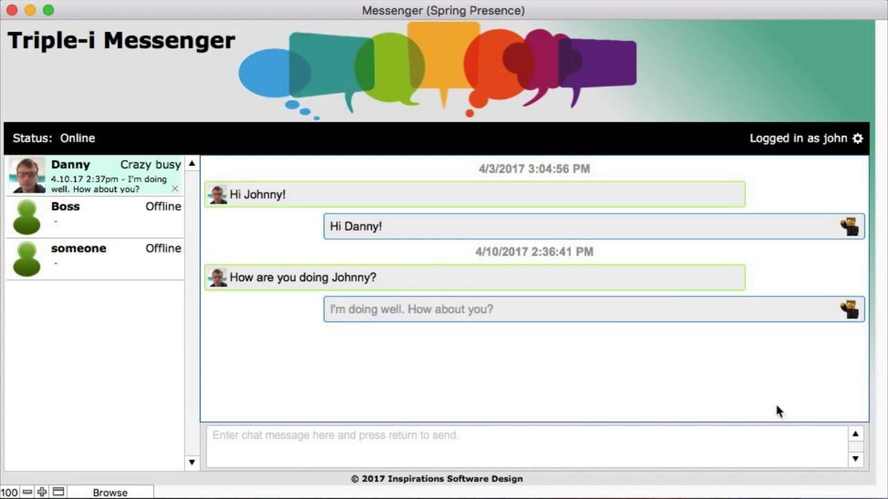 FileMaker Instant Messenger - Triple-i Messenger