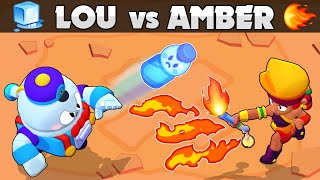 LOU vs AMBER | 🔥vs🧊 | Chromatic vs Legendary | Brawl Stars