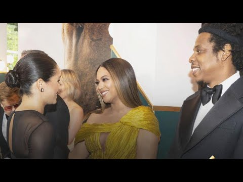 See Why Beyonce Was NERVOUS to Meet Meghan Markle at &39;The Lion King&39; Premiere