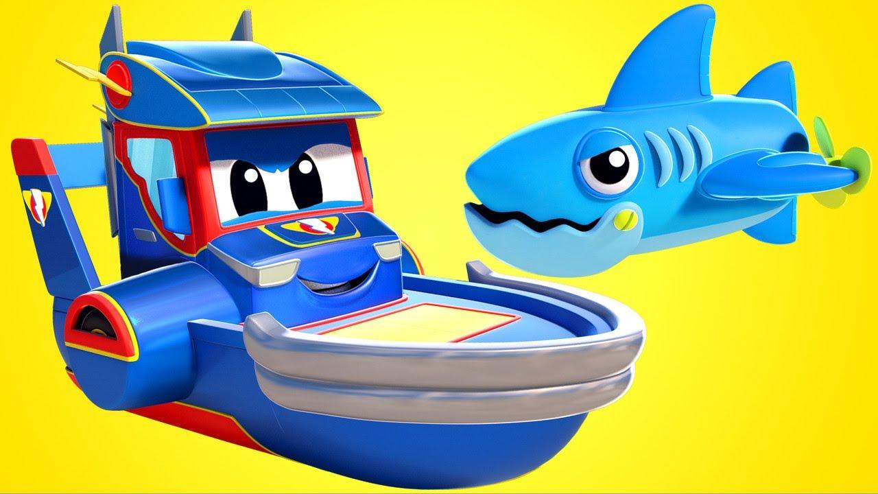 REQUINS Versus SUPER BATEAU  - Car City - Dessins animés pour enfant