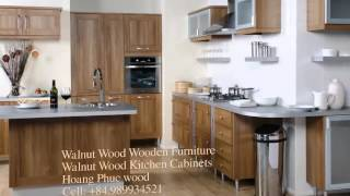 Walnut Wood Kitchen Cabinets - 2 - Hoangphucwood