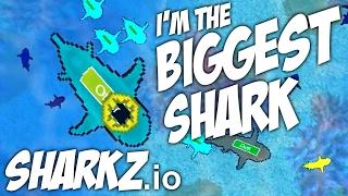 Sharkz.io - I'm the BIGGEST SHARK!   Let's Play Sharkz.io Gameplay