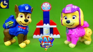 Talking Mission Pups Chase and Skye! Paw Patrol The Movie Toys Unboxing Video & Liberty Mega Bloks!