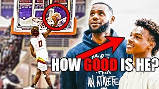 How GOOD Is 15 Year Old LeBron James Jr. Actually? (Ft. NBA Potential, LeBron, High School Dunks)
