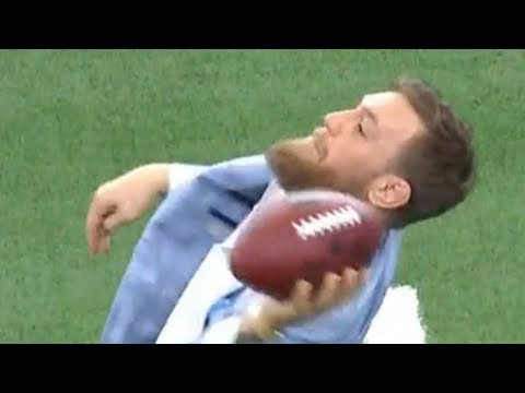 NFL ROASTS Conor McGregor After Throwing Football 🏈  HILARIOUSLY BAD
