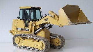 RC CATERPILLAR TRACK LOADER LOADING DUMP TRUCK IN THE MUD - SCALEART