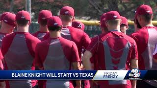 Blaine Knight starts for the College World Series