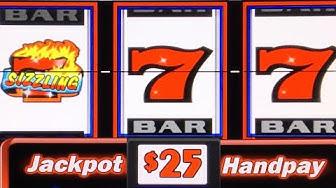 HIGH LIMIT SIZZLING 7 ★ HANDPAY JACKPOT ➜ BIG WIN ON A CLASSIC 3-REEL SLOT MACHINE