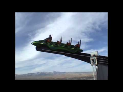 X-Scream Off Ride POV Stratosphere Tower Las Vegas Nevada Crazy Thrill Ride