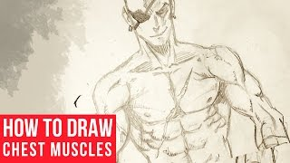How To Draw Chest and Arm Muscles
