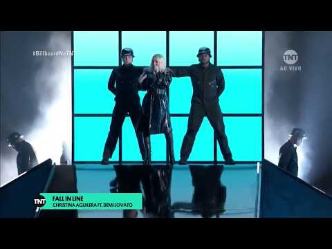 Christina Aguilera E Demi Lovato - Fall In Line (BillBoard Music Awards 2018) 20-05-2018 [CABR]