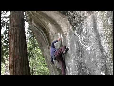 Lynn Hill climbs Midnight Lightning, Camp 4, Yosemite, 5/98.