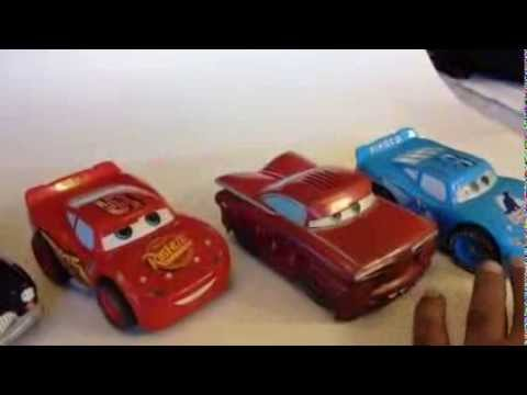 Disney Pixar Cars Lighting McQueen, Dinoco, Ramone, Sheriff -Shake N Go - DinseyToyCollection