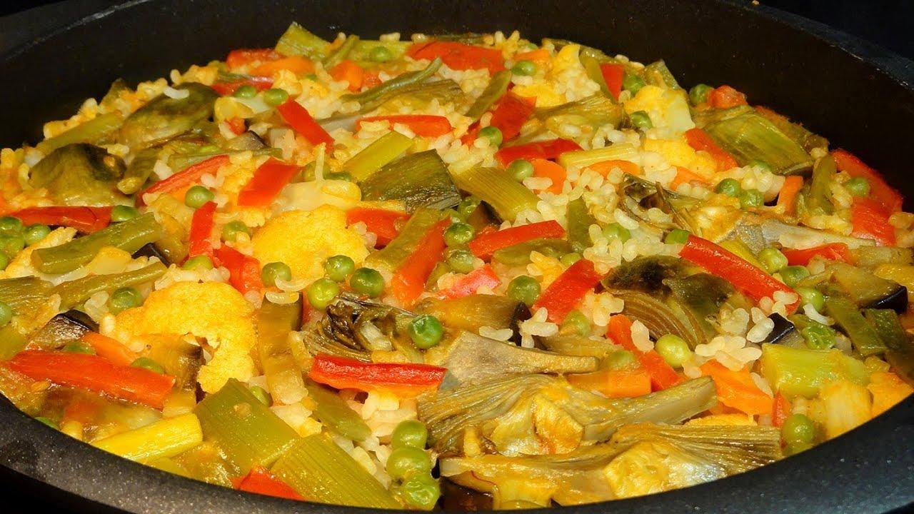 Arroz con verduras recetas de arroz youtube - Arroz con pescado y verduras ...