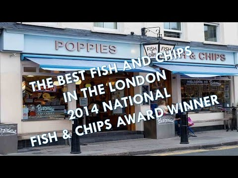 POPPIES CAMDEN TOWN LONDON THE BEST FISH AND CHIPS RESTAURANT UK WINNER
