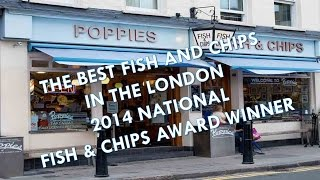POPPIES CAMDEN TOWN LONDON THE BEST FISH AND CHIPS RESTAURANT UK WINNER 2014