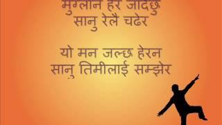 Nepali karaoke Muglan hera jaadaichhu with lyrics