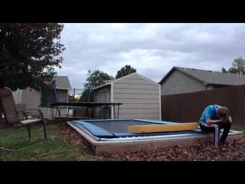 Triple Ball-Out FAIL on Backyard Trampoline!